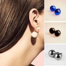sided stud earrings jewelry sided stud earrings poshmark