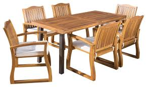 Acacia Wood Outdoor Furniture by Spanish Bay Teak Finish Acacia Wood Dining Table Contemporary