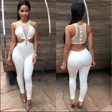 all white jumpsuits 2018 womens jumpsuits rompers nightclub