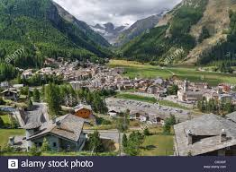 Small Town Aerial View Of Cogne Small Town In Aosta Valley Italy Imagine
