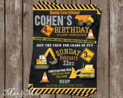 construction birthday party invitation printable construction