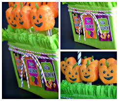 diy halloween candy displays with pumpkin peeps party ideas