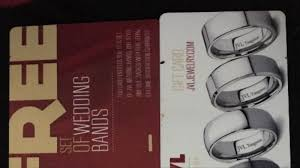 jvl wedding bands jvl jewelry gift card 2 free wedding bands ebay