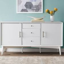 modern u0026 contemporary white sideboards u0026 buffets you u0027ll love wayfair