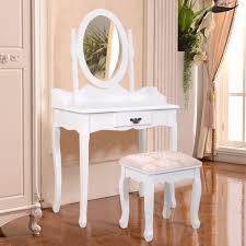 dressers for makeup goplus black white vanity wood makeup dressing table stool set