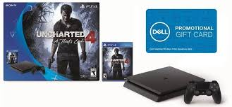 ps4 gift card daily deals ps4 slim 500gb uncharted 4 bundle with 100 dell gift