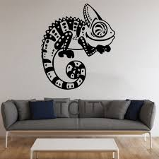 wall stickers murals chameleon wall stickers lizard vinyl decals reptile animal