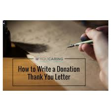 how to write a donation thank you letter compassionate