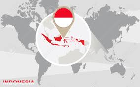 Vector World Map Indonesia World Map With A Pixel Diamond Texture Stock Vector Best