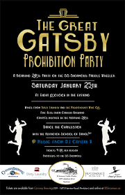 the great gatsby prohibition party poster 2014 large format ss