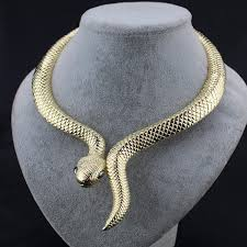 necklace snake images Golden vintage alloy snake necklace jpg