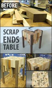 how to build an end table from scrap wood http