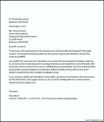 best solutions of follow up thank you letter nursing interview on
