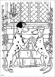 101 dalmatians holding hands coloring