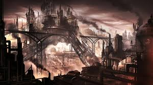 steampunk city wallpaper google search steampunk building