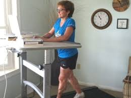 Standing Treadmill Desk by Get Off Your Duff Work And Walk With A Treadmill Desk