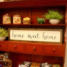home sweet home wooden sign farmhouse style wall decor rustic