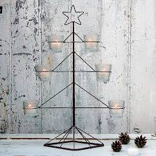 wire christmas tree tealight holder by primrose u0026 plum