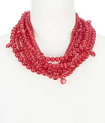 large red beaded necklace images Women 39 s statement necklaces dillards jpg