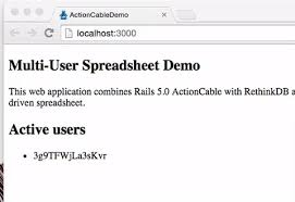 Multi User Spreadsheet Rails 5 Actioncable And Rethinkdb To Build A Reactive