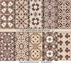 arabic ornament brown background free vector stock