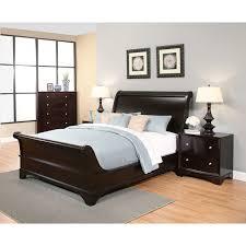 Sleigh King Size Bed Frame Abbyson Kingston 4 Espresso Sleigh King Size Bedroom Set