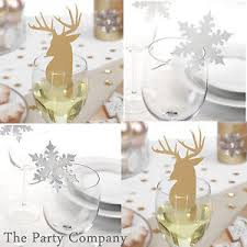 christmas glass table decorations place name cards xmas party