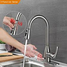 touchless kitchen faucet touchless kitchen faucets with pull down sprayer brushed nickel one