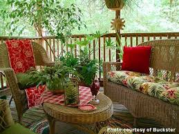 Screened In Porch Decor Porch Decorating With Red Easy Decorating Ideas