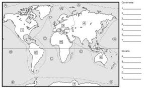 blank continent map geography maps esl resources