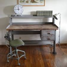 wood and metal writing desk industrial computer desk photo gallery 1 amazing industrial antique