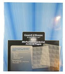 archival photo pages shield thumb cut 20 pocket 100 pack archival polypropylene pages