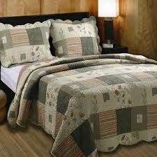 Quilted Cotton Coverlet Sedona Cotton Patchwork Quilt Set Bedding