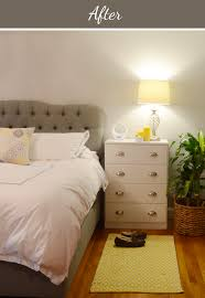 design fixation before after a yellow and gray bedroom makeover