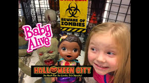 city of heroes halloween baby alive goes on a halloween city tour the lilly and mommy show