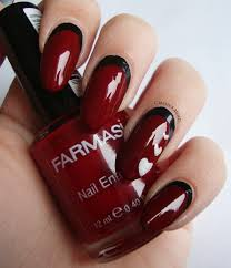 red n black nail designs beautify themselves with sweet nails