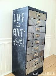 Chalk Paint On Metal Filing Cabinet Best 25 Steel Filing Cabinet Ideas On Pinterest Painting Metal