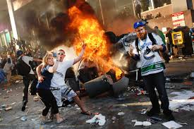 white people rioting for no reason