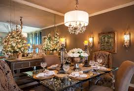 Dining Room Chairs Dallas by Dallas Designer Christmas Trees Dining Room Traditional With Brown