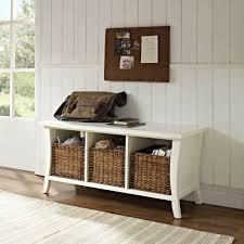 home decorators collection oxford white basket storage bench photo