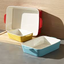 potluck baking dishes set of 3 crate and barrel