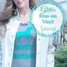 diy glitter iron on vinyl tutorial diy show off diy