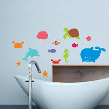 sea creatures wall stickers by mirrorin notonthehighstreet com