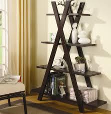 Ladder Shelf Target Furniture Colorful Furniture Crossing Shaped Dark Brown Polished