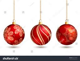 baubles isolated on white background stock vector