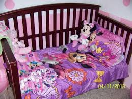 Comforters For Toddler Beds Disney Minnie Mouse Fluttery Friends 4 Piece Toddler Bedding Set