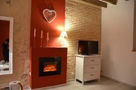 chambre d hote onzain tv et cheminée électrique d ambiance photo de chambre d hôtes la