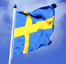 Sweedish Flag File Swedish Flag With Blue Sky Behind Ausschnitt Jpg Wikimedia