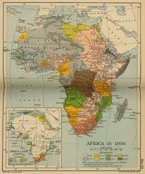 World Map Of Africa by Map Of Africa 1870 And 1910