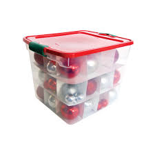 Christmas Ornament Storage Container Plastic by Holiday Latching Ornament Storage 31 Qt Homz